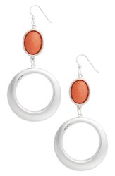 Simon Sebbag Women's Semiprecious Stone Hoop Drop Earrings