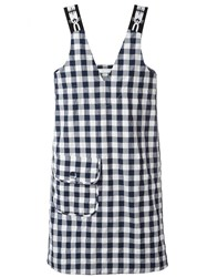 Peter Jensen Gingham Shift Dress Blue