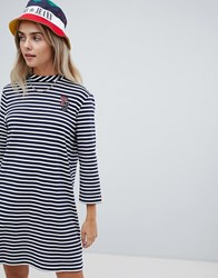 Tommy Jeans Stripe Dress Bright White Multi