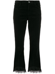 J Brand Lace Detail Cropped Length Trousers Black