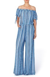 Catherine Malandrino Women's Stripe Wide Leg Jumpsuit