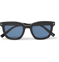 Ermenegildo Zegna Square Frame Acetate Polarised Sunglasses Black