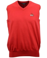 Vesi Men's Sleeveless Louisville Cardinals Sweater Vest Red