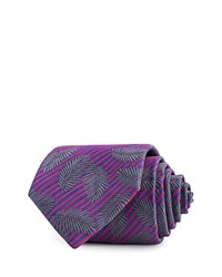 Thomas Pink Rossi Palm Woven Classic Tie Red Blue
