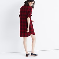 Madewell Latitude Shirtdress In Leland Plaid