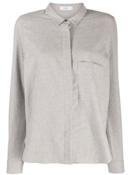 Closed Plain Fitted Shirt Grey