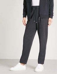 Max Mara Jean Tapered Jersey Jogging Bottoms 006 Navy