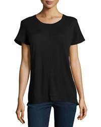 W By Wilt Slub Backless Boxy Tee Black
