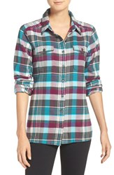 Patagonia Women's 'Fjord' Flannel Shirt Bay Laurel Forge Grey