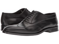 Canali Wingtip Oxford Black Shoes