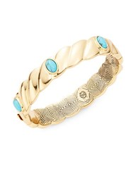 House Of Harlow Faux Turquoise Accented Scalloped Bangle Blue