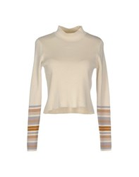 Only Knitwear Turtlenecks Women Beige
