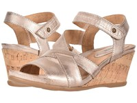 Earth Thistle Pink Metallic Suede Clog Mule Shoes