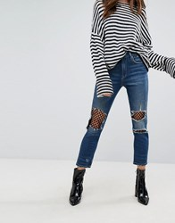 Blank Nyc Straight Leg Jean With Mesh Lining Blue