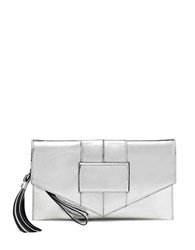 Botkier Chelsea Leather Convertible Wristlet Silver