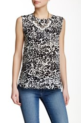 J.Crew Factory Printed Draped Keyhole Tank Multi