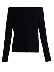 The Row Agneta Cashmere Sweater Navy