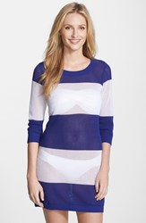 Women's Tommy Bahama Stripe Cover Up Sweater Danubio White