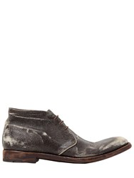 Alberto Fasciani Vintage Effect Leather Lace Up Shoes