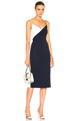 Cushnie Et Ochs Color Blocked Pencil Dress In Blue Pink White Blue Pink White
