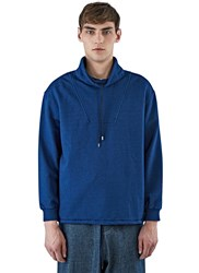 J.W.Anderson Funnel Neck Jersey Sweater Blue
