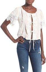 For Love And Lemons Women's 'Hayley' Tie Front Blouse
