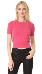 J Brand Briony Short Sleeve Sweater Roseate