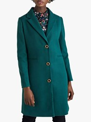 Yumi Single Breasted Leopard Print Lined Coat Green