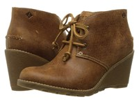 Sperry Stella Prow Brown Women's Wedge Shoes