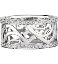 De Beers Aria White Gold And Diamond Band