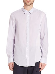 3.1 Phillip Lim Asymmetrical Stripe Sportshirt White Blue