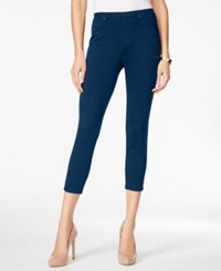 Styleandco. Style And Co. Pull On Twill Capri Leggings Only At Macy's Industrial Blue