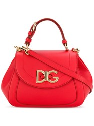 Dolce And Gabbana Wifi Shoulder Bag Leather Red