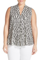 Plus Size Women's Tart 'Aryn' Sleeveless V Neck Jersey Top Chain Link