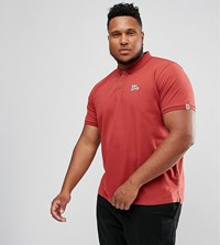 Tokyo Laundry Plus Slim Fit Stretch Polo Red