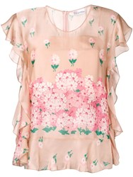 Red Valentino Floral Print Blouse Pink
