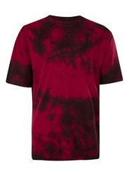 Topman Red And Black Tie Dye Oversized T Shirt