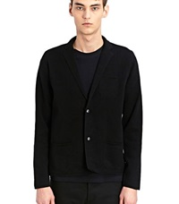 Lanvin Slim Fit Knitted Blazer Jacket Black