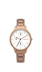 Karen Millen Gold Minimal Chain Watch Rose Gold