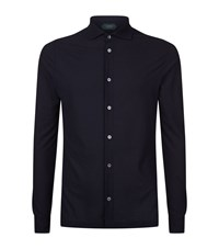 Slowear Zanone Cotton Shirt Male Navy