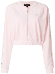 Juicy Couture Customisable Velour Jacket Pink And Purple