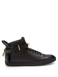 Buscemi Core Clip Leather High Top Trainers Black