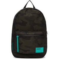 Diesel Green And Black Camo F Discover Backpack