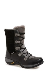 Women's Dansko 'Camryn' Waterproof Insulated Snow Boot Black Burnished Nubuck