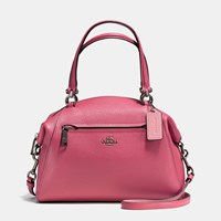 Coach Prairie Satchel In Polished Pebble Leather Dk Rouge