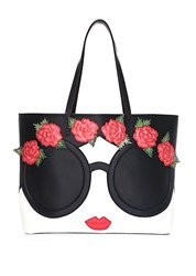 Alice Olivia Missy Embellished Face And Flowers Tote Multi
