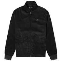 Fred Perry Cord Harrington Jacket Black