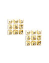 House Of Harlow Lyra Stone Accented Stud Earrings Gold