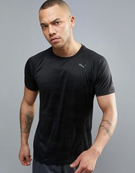 Puma Running Nightcat T Shirt In Black 51496401 Black