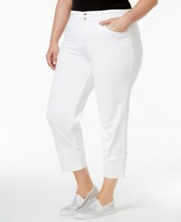 Style And Co Plus Size Cuffed Capri Jeans Only At Macy's Bright White